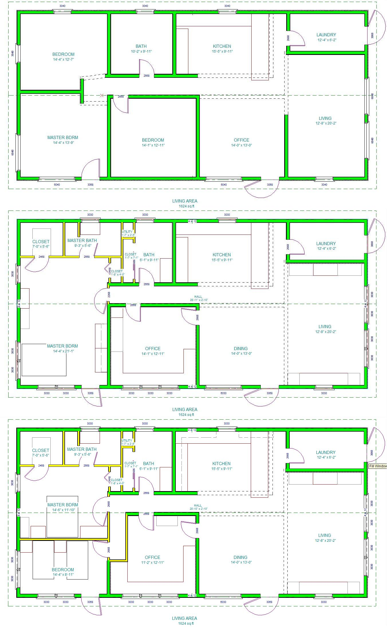 The for Layout design of house